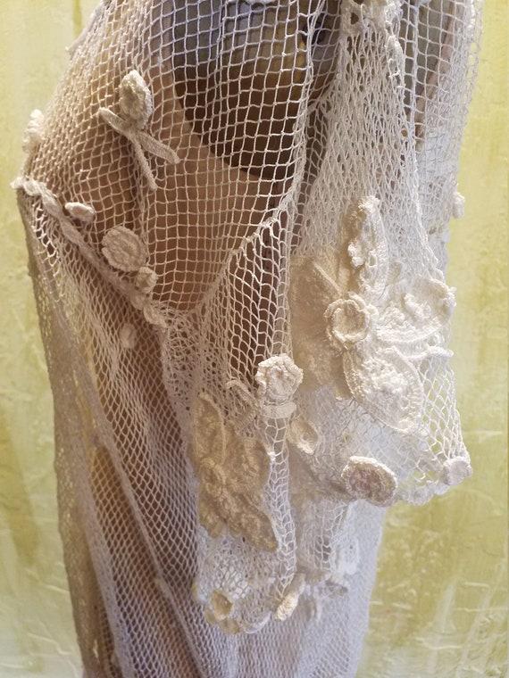 The Pretentious Snob white Crochet Blouse - image 5