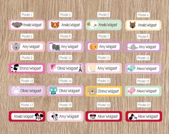70 skinny personalized labels stickers label school
