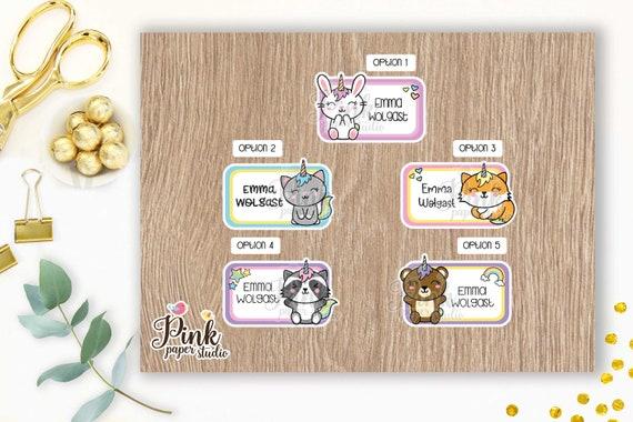 Custom Labels \u2022 Cute Bulldogs \u2022 Back to School Labels \u2022 This Belongs to \u2022 Pegatinas