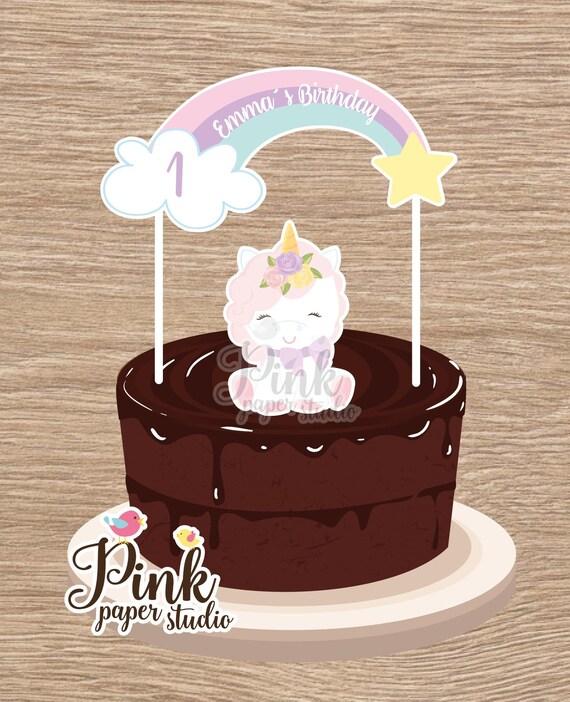Unicorn Cake Banner Rainbow