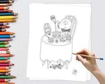 Studio Ghibli Coloring Book Six Sheet Miyazaki Coloring Page Etsy