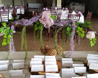 Enchanted Forest Decorations~Wedding Cake Topper~Vines~Under the Sea Party Decorations~Mermaid~Vine Garland Arch~Wedding Table Centerpiece