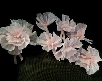 Blush Tissue Paper Poppies Flowers for Hair Clip or Headband~fascinator~ Hair Pin~Giant Poppy