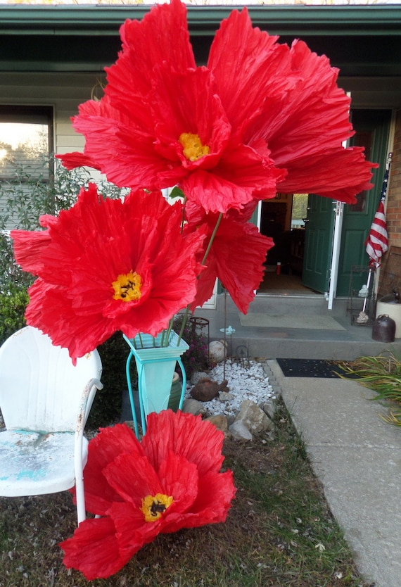 Large tissue paper flowers hanging standing giant tissue etsy image 0 mightylinksfo