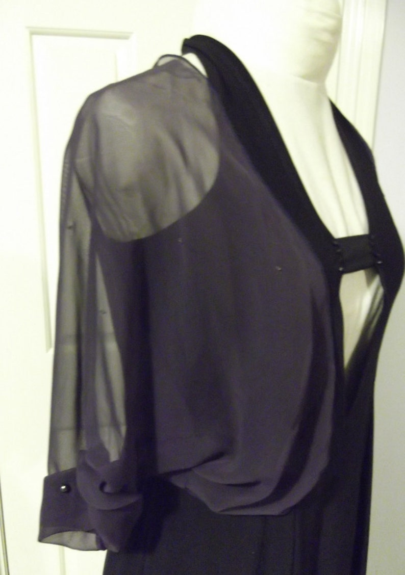 New Womens Evening Party Wedding Black Lace Bolero Shrug Jacket Size 8 10 12 14