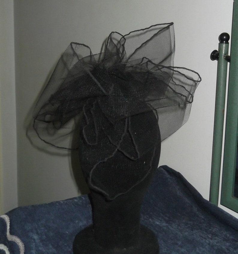 Black Tulle Fascinator Headpiece