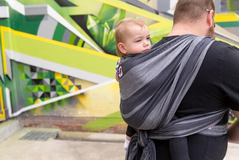e2d4a3795ce Baby Carrier INOSHI Babywearing Woven Wrap Black Grey