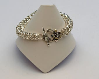 box chainmaille weave bracelet
