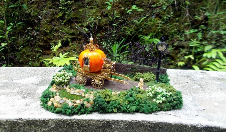 De Magische Tuin : Pompoen coach cinderella schaal magische tuin sprookje etsy