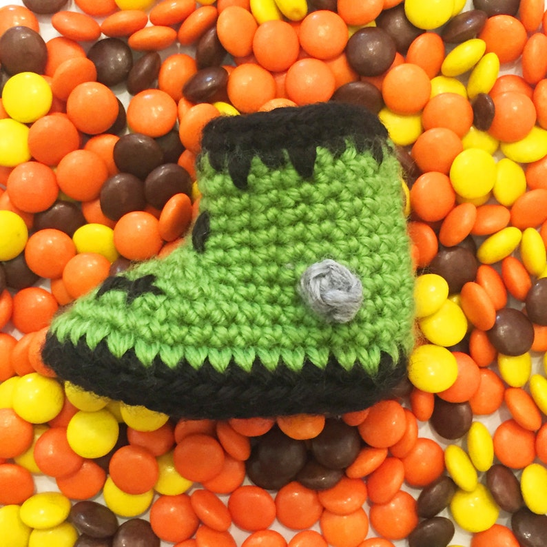 ddf5b5546e7 Crochet Baby Shoes Zombie Baby Shoes Halloween Zombie Baby