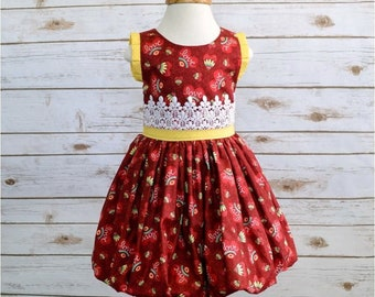 Girls Dress, Bubble Dress, Toddler Dress, Valentines Dress, 2T Ready to Ship
