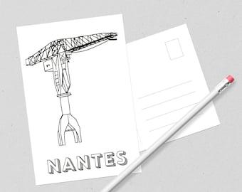 Postcard Titan Crane - Nantes