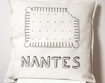 Coussin p'tit beurre de Nantes