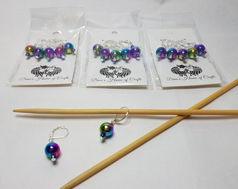 Knitting stitch markers, set of 5, FYD