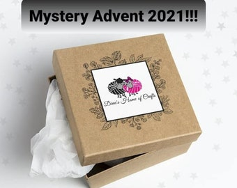 Mystery yarn advent calendar 2021, yarn box, fingering or DK, indie dyed, choose your own, Christmas gift, PRE-ORDER