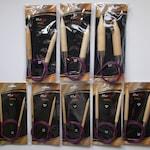 Knitpro basix birch fixed circular needles, various sizes, Extra Large needles, chunky needles,2 - 15mm