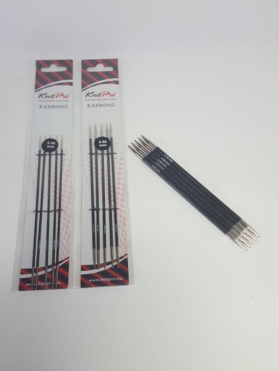 KnitPro Karbonz 20cm DPN Double Pointed Knitting Needles