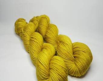 Hand dyed Merino Superwash yarn, Aran weight, 100g, RUSSIAN MUSTARD