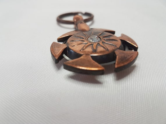 KnitPro Antique Gold Metal Yarn Cutter Pendant Knitting Accessory Keyring Thread