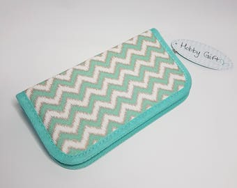 Crochet hook case/ organiser CHEVRON by Hobby Gift, Knitting & crafts storage