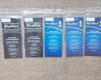 "HiyaHiya Stainless Steel Circular Knitting needles, 23cm/9"""