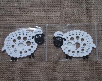 HiyaHiya Sheep Knitting Needle Gauge - Metric & USA