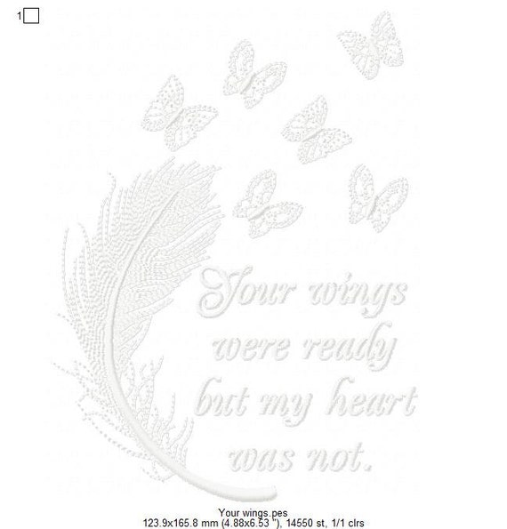 c2266e3774a6ca Your Wings were Ready set of two Machine Embroidery Design