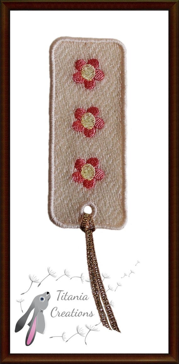 Fsl Free Standing Lace Bookmark Machine Embroidery Design Etsy