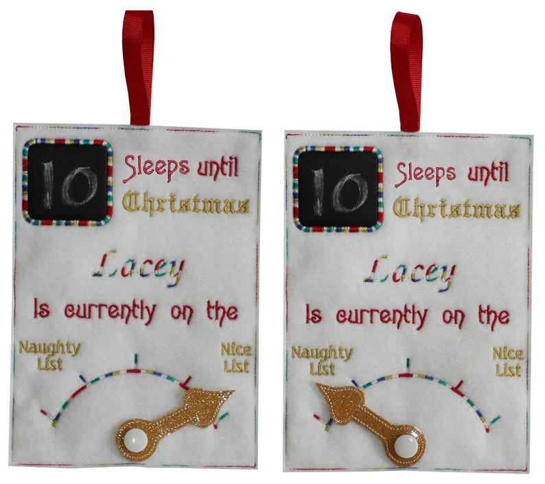 Christmas Counter.Ith Chalkboard Christmas Counter With Movable Pointer Machine Embroidery Design Pattern For 5x7 Hoops By Titania Creations Instant Download