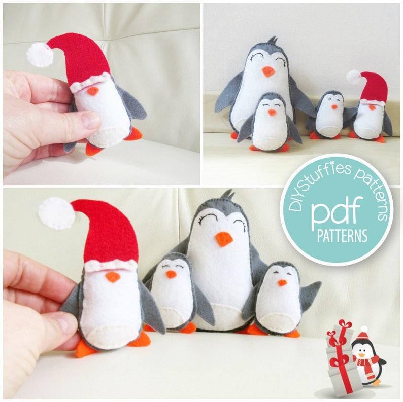 Felt Penguin sewing Craft image 0