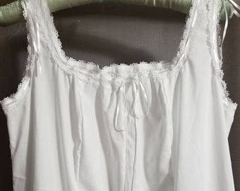 Cotton Nightgown Handmade Victorian Vintage Style Floor Length Made to order 3f64fca23