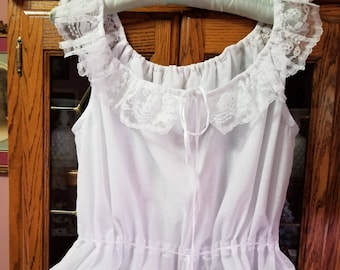Cotton Handmade to Order Victorian-Type Chemise/camisole/corset cover -- Unisize small to large.