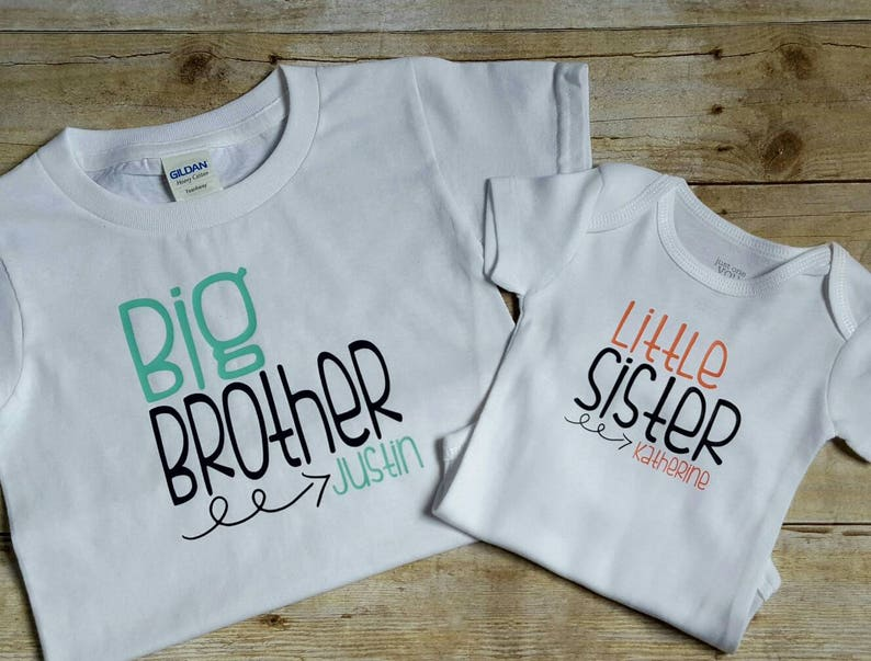 3a0efcd6 Personalized big brother little sister shirts sibling shirt | Etsy