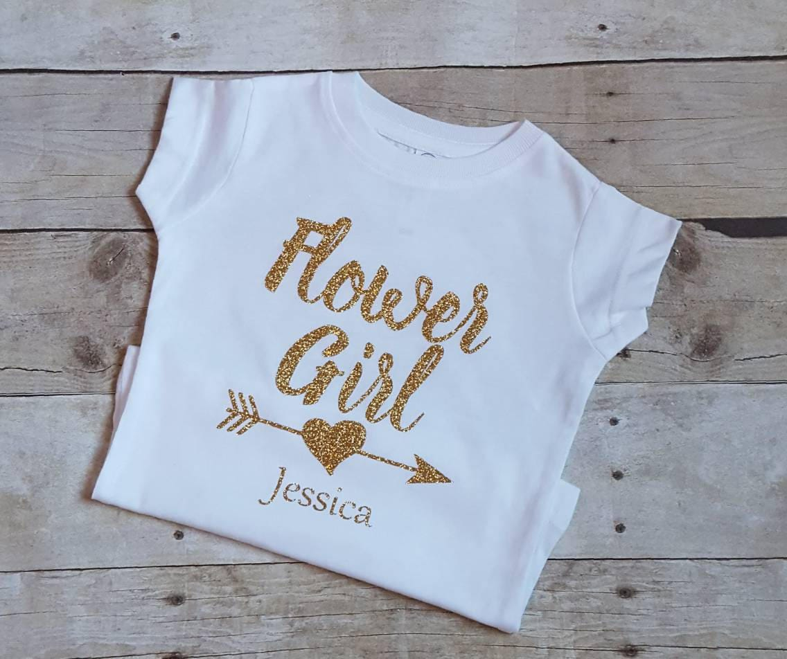 Flower Girl Wedding Gifts: Flower Girl Shirt Wedding Shirts Shower Gifts Bridal Party