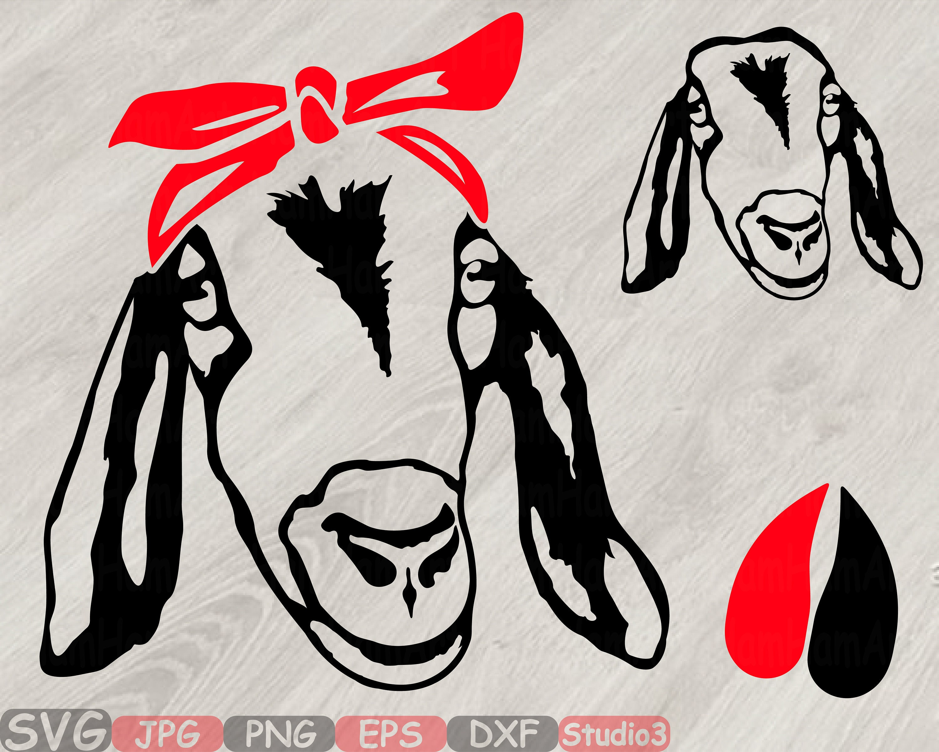 Download Goat Head whit Bandana Silhouette SVG Cutting Files Clip ...