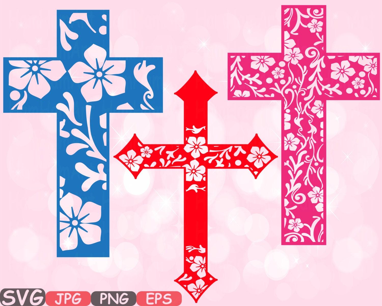 Christian Cross SVG Silhouette Cutting Files Jesus Crosses | Etsy