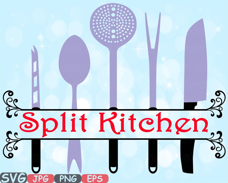 Split Kitchen SVG file Cutting files Cricut & Cameo Kitchen | Etsy