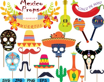 Props Fiesta Mexico V2 Bunting banners Dead Monogram Cutting Files Clipart Digital svg eps png jpg Vinyl Antique sale ClipArt Old 175S