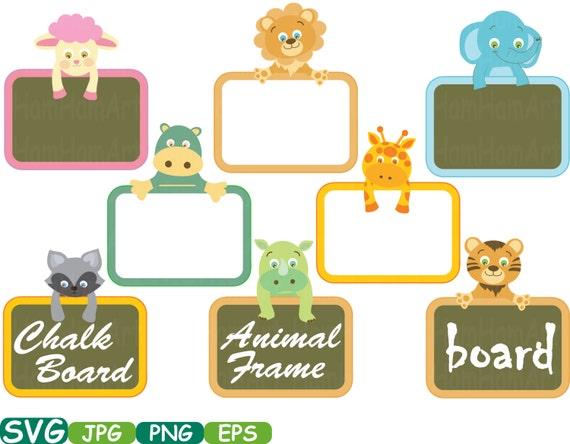 Animals Frames Cutting File SVG Animal Safari Chalk board | Etsy