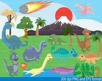 Dinosaur Clip Art - PNG,EPS-Digital Clip Art Graphics, Personal, Commercial Use (34 png format)-087-