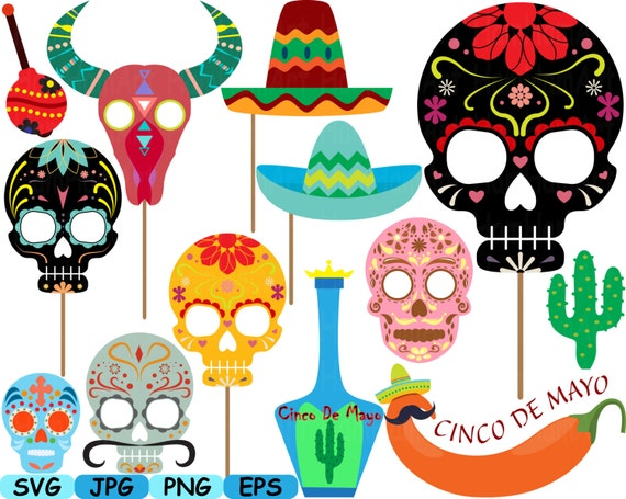 Props Fiesta Mexico V3 Bunting Banners Dead Monogram Cutting Etsy