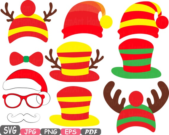 Christmas Props Party Photo Booth Silhouette Costume Cutting Etsy