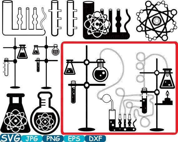 Science School Svg Cutting Files Monogram Clipart Silhouette Etsy