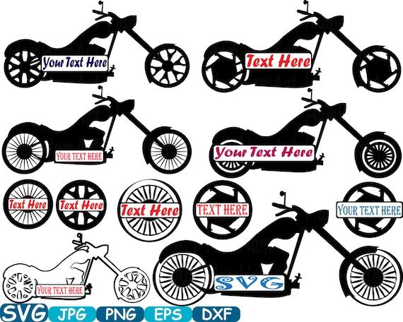 Split Motorbike Monogram Choppers Cutting Files Svg Motorcycle Etsy