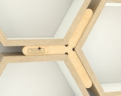 Hexagon Shelf Alignment Tool | Get Perfectly Gapped and Proportioned Hexagon Shelf Installations