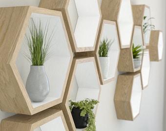 Hexagon Shelves Etsy