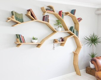 The Windswept Oak Tree Bookshelf