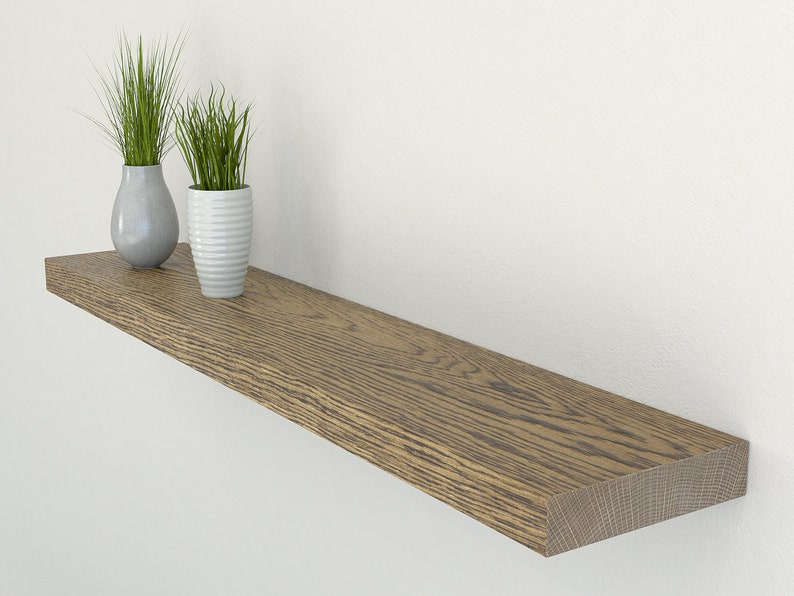Plasterboard And Drywall Oak Floating Shelf 150mm Deep Etsy