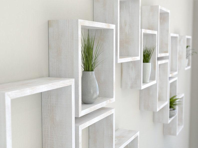 Witte Planken Aan De Muur.Rustic Wit Vierkant Muur Plank In Massief Eiken Rustiek Wit Etsy