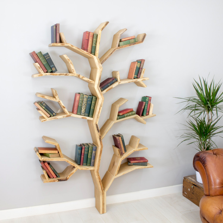 the elm tree bookshelf | etsy